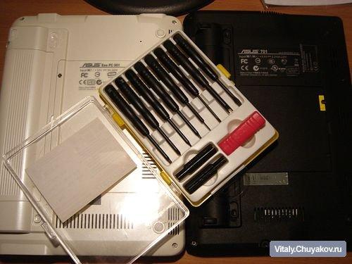 Замена оперативной памяти в Asus EeePC 901